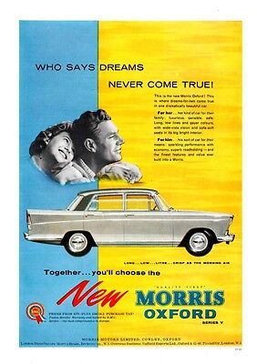 The  MORRIS OXFORD  Series V    (Advertisement)