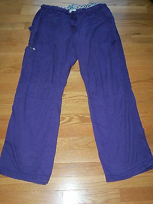 Koi Lindsey 701 Cargo Pants L Large Nurse Uniform Rn Work Scrub Logo Purple Work