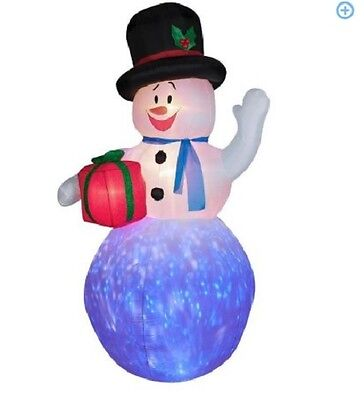 8 ft tall Gemmy Airblown Christmas Inflatables PROJECTION KALEIDOSCOPE SNOWMAN