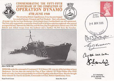 2RNCH47  55 Anniv of the Competion of Operation Dynamo Signed 4  MTB102