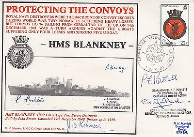 5RNCC35b  Rare (23 issued) HMS Blankney Protecting The Convoys Signed 5 in the a