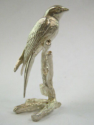 SOLID STERLING SILVER MINIATURE Swallow BY PAUL EATON