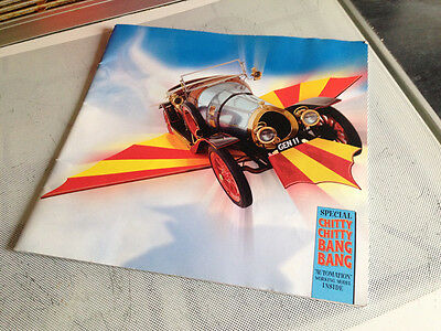 Vintage Chitty Chitty Bang Bang programme book with card model to make