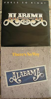 """ALABAMA - Feels So Right & There's No Way - RCA Records 2 x 7"""" Singles"""