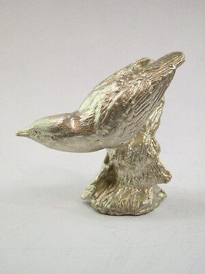 SOLID STERLING SILVER MINIATURE Bird  BY PAUL EATON