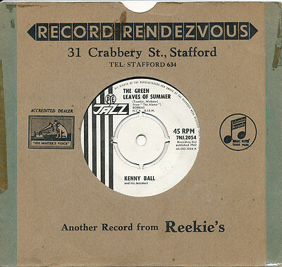 """KENNY BALL-The Green Leaves Of Summer/I'm Crazy 'Bout - 7"""" Single"""