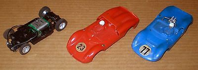 Strombecker 2 Body 1 Chassis Vintage Slot Car   1/32
