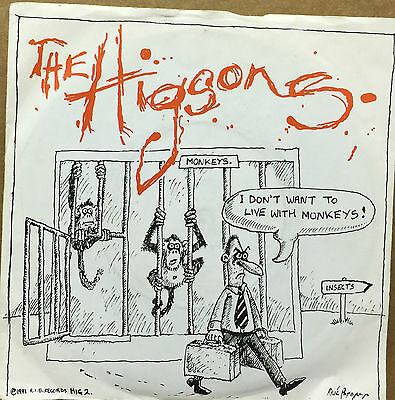 """THE HIGSONS-I Don't Want To Live With Monkeys-7"""" Vinyl Record Single 45rpm-1981"""