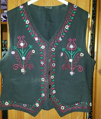 Lovely vintage Indian embroidered mirrored waistcoat