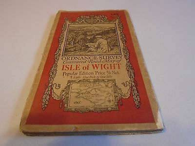 vintage ordnance survey map of Isle of Wight linen backed