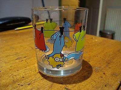 Nutella The Simpsons Maggie. Rare Glass From 2000