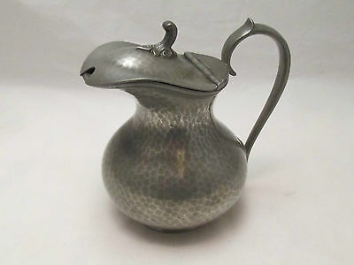 A Small Hand Hammered Pewter Wine Jug - Howard Pewter