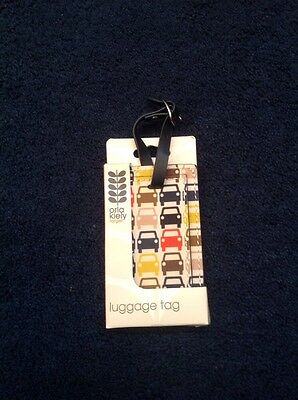 Orla Kiely Small Cars Luggage ID Tag Target Travel Suitcase New