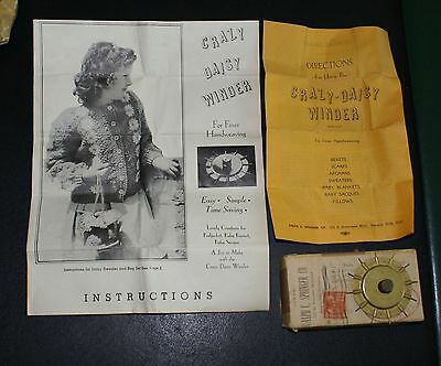 VINTAGE CRAZY DAISY WINDER for Finer Handweaving w/Box, Instructions & Patterns