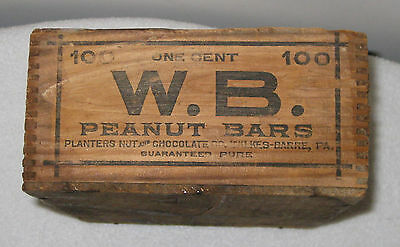 Planters Mr. Peanut Small Wooden Dovetailed Box