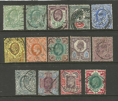 "Gb  Edvii Between Sg215 To 314   ""set Of 15 To 1/-   Fine  Used"