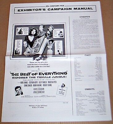 The Best Of Everything (1959) Exposes The Female Jungle! Original Pressbook !