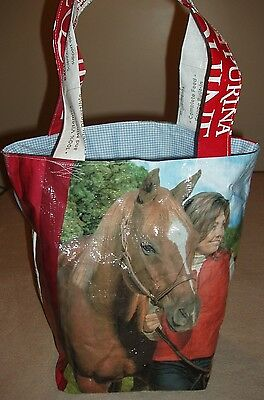Unique-Recycled Feed Bag-Purse/Tote/Grocery-Lined Handmade Horse,Farm,FFA 4-H