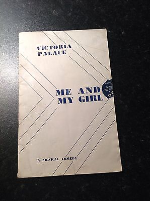 Vintage Victoria Palace Theatre Programme- Me and My Girl
