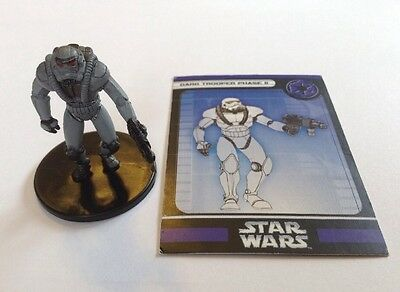 Star Wars Miniatures Champions Of The Force Dark Trooper Phase II #48 With Card