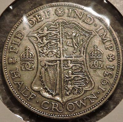 British Silver Half Crown - 1931 - King George V - $1 Unlimited Shipping