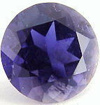 A PAIR OF 4mm ROUND-FACET DEEP PURPLE/BLUE NATURAL AFRICAN IOLITE GEMS £1 NR!