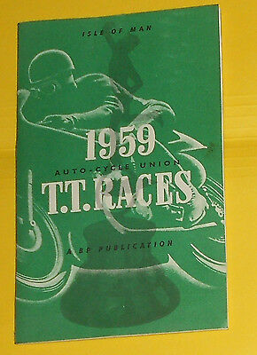 1959  T.t Races ,isle Of Man , Bp , Auto-Cycles Supplement