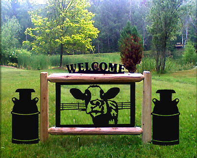 Holstein Cows-Milkcans-Dairy Farms-Ranch Country Decor-Clingermans Signs