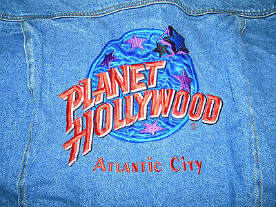 Planet Hollywood Atlantic City Jean Jacket Size Small