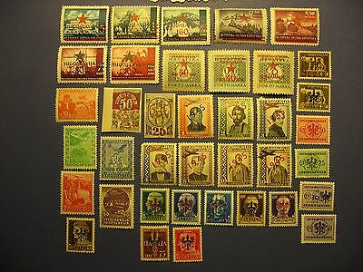 Yugoslavia MLH Stamps 1934-1945 Zone B Italy Occupation Cat. $20.00