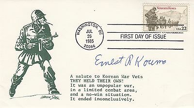 USA FDC Medal of Honor Recipients Signed  E R Koumo Tank Commander Korea War Vet