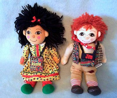 """10"""" Original Rosie And Jim Dolls - Ragdoll Productions Itv Tv Series Immaculate"""