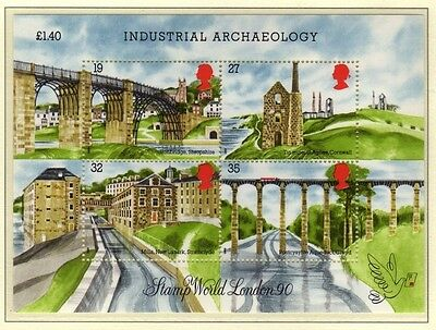 GB 1989 Industrial Archaeology Miniature Sheet SG MS1444 MNH