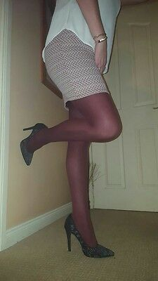 My smooth burgundy  opaque tights