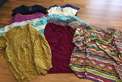 Lot Of 12 Size Large Maternity Tops Old Navy, Liz Lange And Others (8)