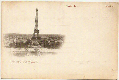 1890s early France PC advertising Eiffel Tower - unposted/unused