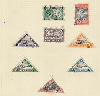 A very nice old Liberian page with imperf Triangular Page