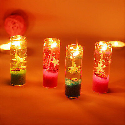 Ocean Jelly Candle Wedding Party Decoration Glass Cup Shell Birthday Candle New