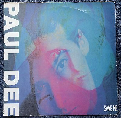 """Paul Dee Save Me Electronic  House 1990s 7 """" INCH 45RPM"""