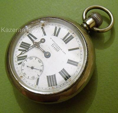 Vintage Nickel Case Fob Pocket Watch 71410F H Williamson London For Spares