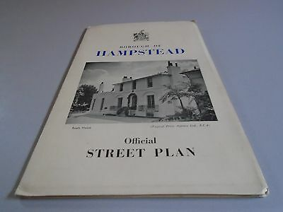vintage map to Hampstead in London
