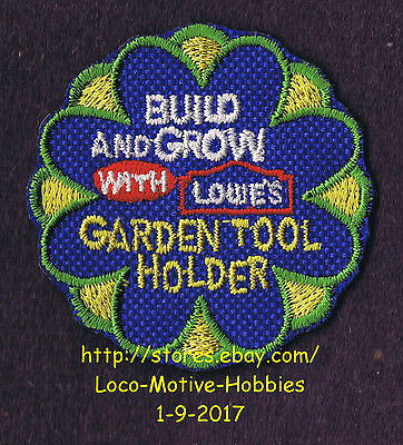 LMH PATCH Badge GARDEN TOOL HOLDER Rake LOWES Build Grow Kids Clinic Shovel Hoe
