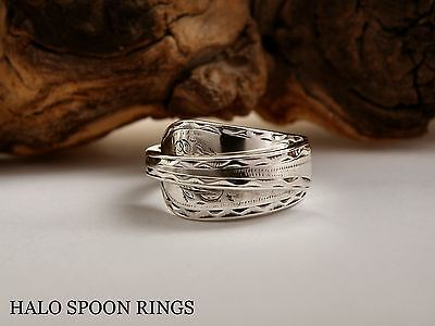 CHUNKY LADIES GEORGIAN SOLID SILVER SPOON RING c1770 *** THE PERFECT GIFT ***