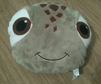 """Disney Store Disneys Finding Nemo Squirt The Turtle 12""""x12"""" Character Cushion"""