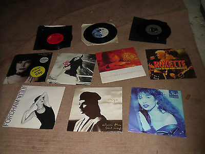 "Collection 10 1980s Pop 7"" vinyl Liza Minnelli Jennifer Rush Bangles Roxette"