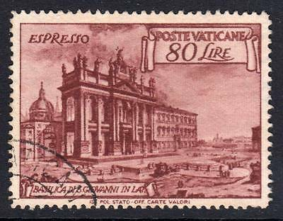 VATICAN CITY E12 Used '49 80l Basilica of St. John $20.00