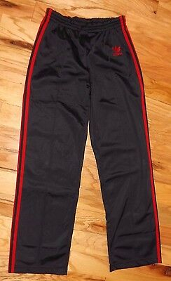 Vintage Boys LARGE ADIDAS Made in USA 100% Polyester Track Stripes Pants