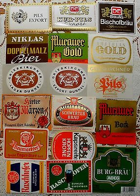Beer  Labels Collection: Austria -17 Different