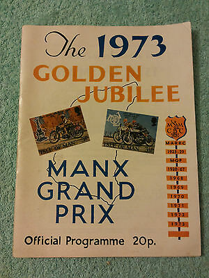 Isle Of Man 1973 Golden Jubilee Manx Grand Prix Official Programme