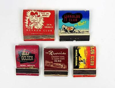 RENO Nevada Matchbook Covers Casino LOT Harolds Nevada Club Riverside Golden Vtg